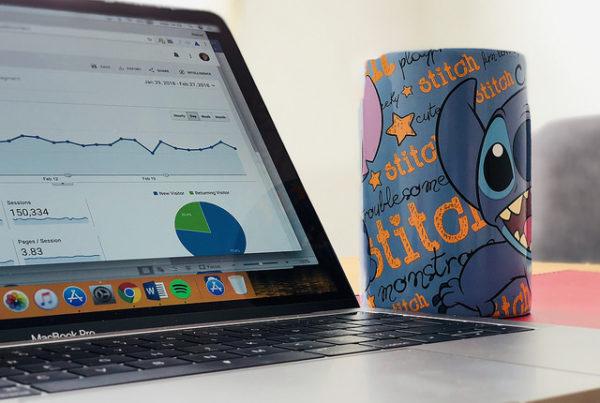 analytics on a macbook