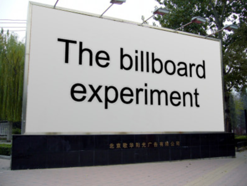 Freedman and Fraser: Compliance Without Pressure (The Billboard Experiment)